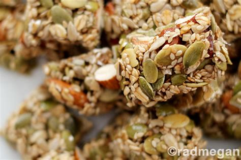 Healthy Seed Bar healthy treats seed nut energy bars radmegan