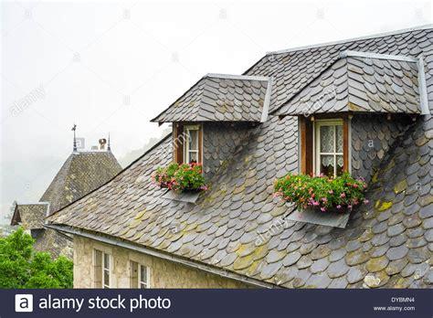 Buy Dormer Windows Slate Roof Tiles And Dormer Windows On A House In Gimel