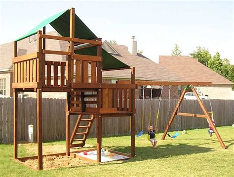 wooden swing kit adventurer swing set fort kits plans 5ft 7ft high deck