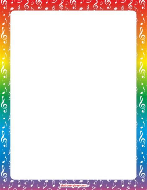 lined paper with music border 56 best images about frames and borders on pinterest