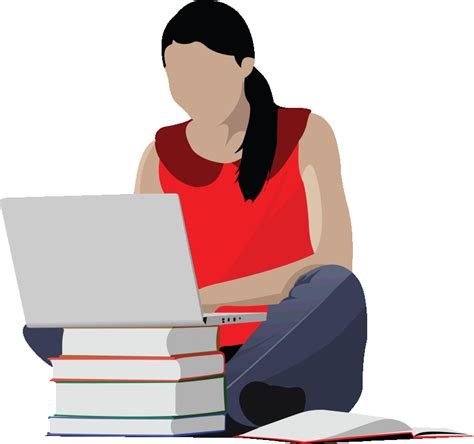 Student Studying Clipart