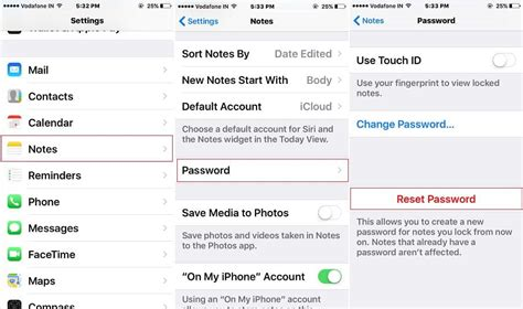 set password on iphone how to reset note password in iphone ios 10
