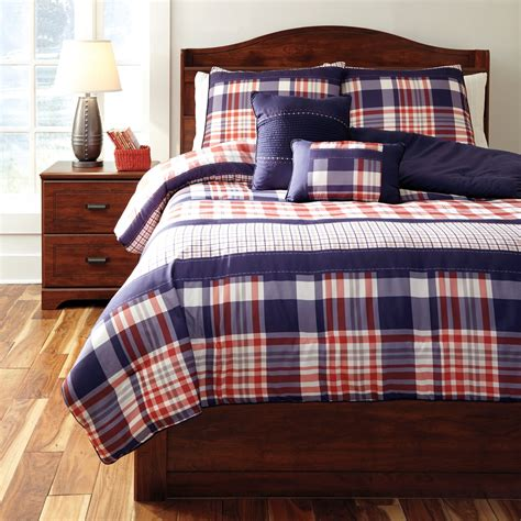 Plaid Comforter by Milam Plaid Comforter Q353003f Furniture