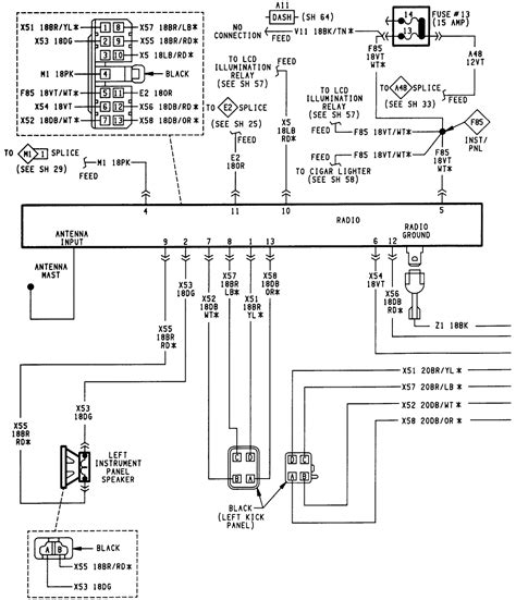 2000 jeep sport radio wiring diagram 1999 jeep