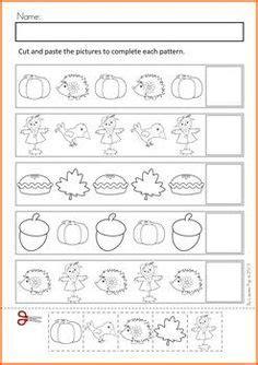 fall pattern worksheets for kindergarten fall math cut and paste activities kindergarten math