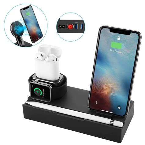 8 in 1 qi wireless charger fast charging phone holder for iphone samsung huawei apple
