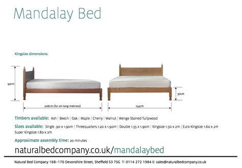 beds sizes mandalay bed indian style beds natural bed company