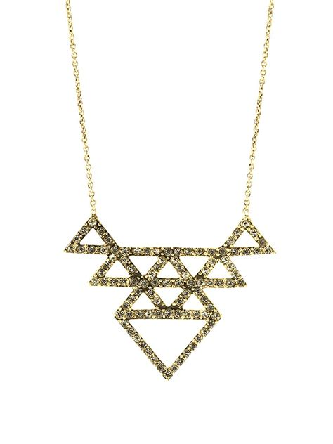 House Of Harlow Jewelry by House Of Harlow 1960 Tessellation Necklace In Gold Gold