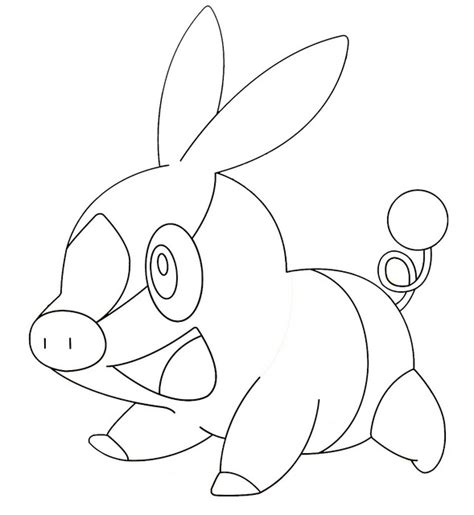 pokemon tepig coloring pages images pokemon images