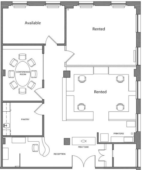 office space floor plans two team rooms for sublease within architecture office