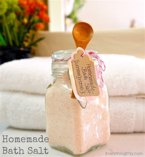 Handmade Bath Salts - bath salt diy gift