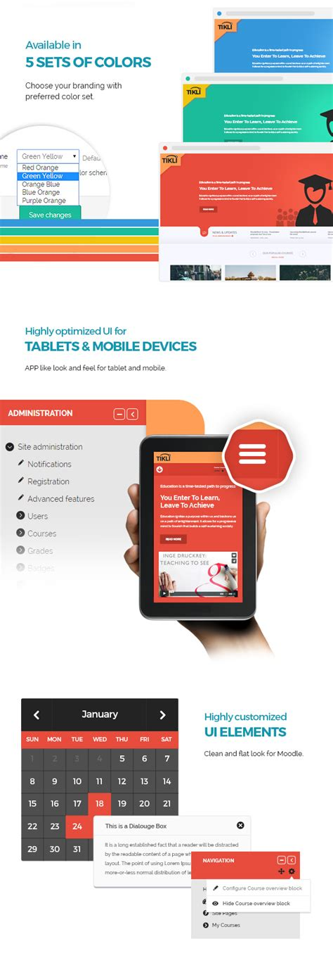 moodle themes themeforest tikli responsive moodle theme cms themes themeforest