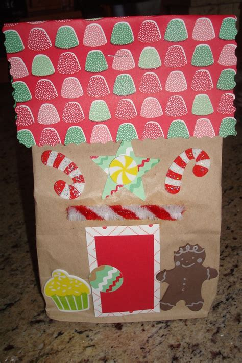 Paper Gingerbread House Craft - gingerbread houses paper bags and gingerbread on