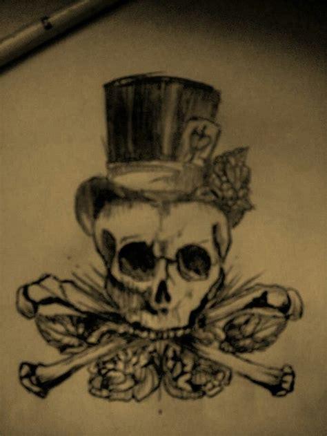 top hat tattoo skull with top hat tattoos tops skulls