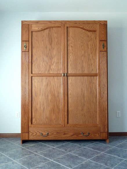 murphy bed armoire armoire style murphy wall bed by tedm lumberjocks com
