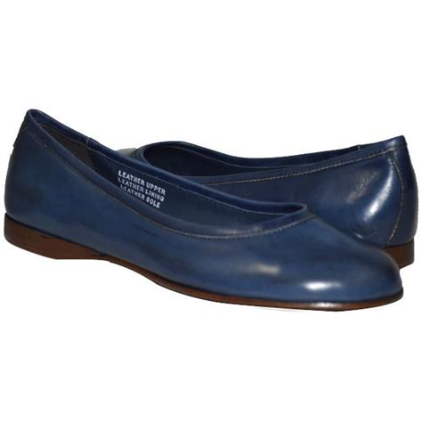 flat navy blue shoes clara dip dyed navy blue nappa leather ballerina flat