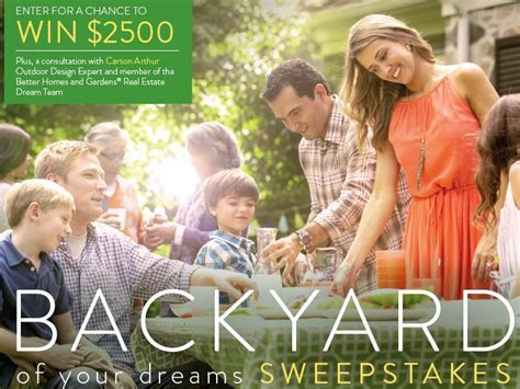better homes and gardens sweepstakes the better homes and gardens real estate backyard of your dreams sweepstakes