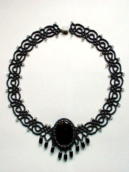 black necklace pattern free pattern for necklace black lace beads magic