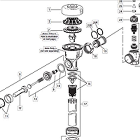 sloan valve parts diagram image gallery sloan valve