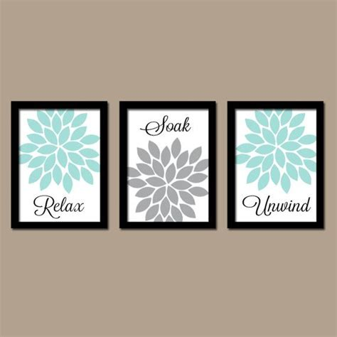 bathroom decor aqua gray bathroom wall art canvas or