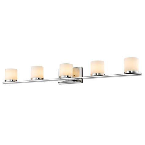 5 light chrome vanity fixture filament design carmen 4 light polished chrome bath vanity