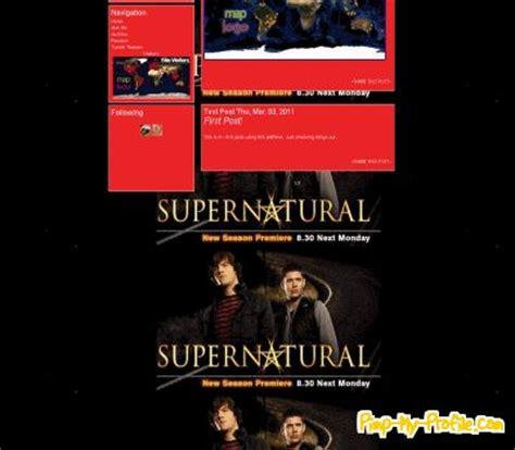 themes tumblr supernatural supernatural tumblr themes pimp my profile com