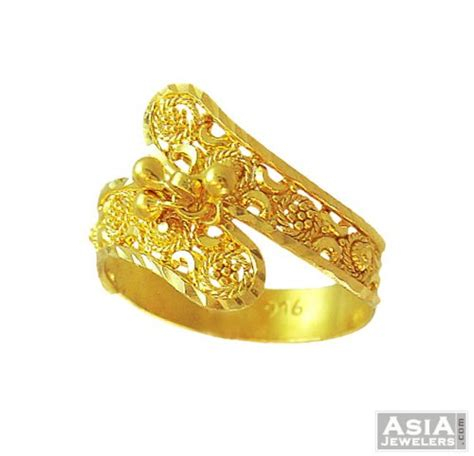 Gold Indian Traditional Ring by 21 Carat Gold Earrings Jewelry Ufafokus