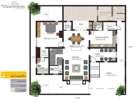bungalow ground floor plan krc shantiniketan luxury individual bungalows floorplan