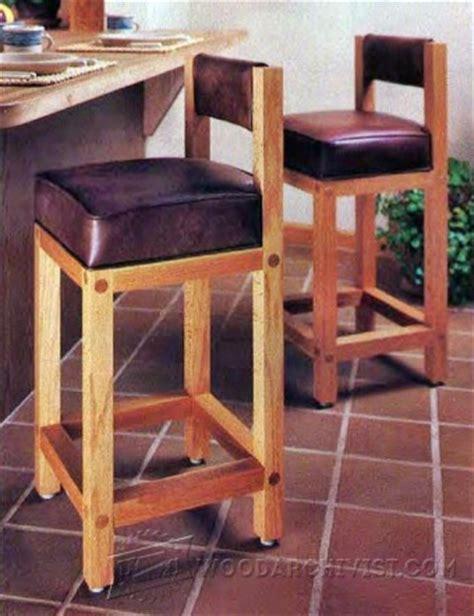 kitchen stool plans woodarchivist