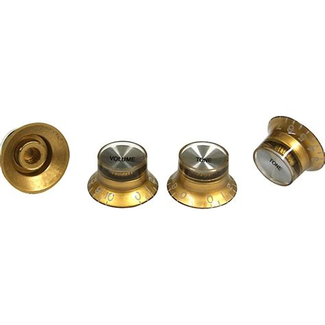 proline electric guitar top hat style knobs 4 pack gold