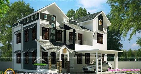 2015 sq ft sloping roof home kerala home design and 1900 sq ft sloping roof house kerala home design and