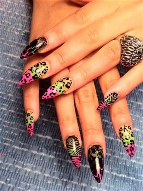 imagenes de uñas acrilicas puntiagudas u 241 as puntiagudas con dise 241 o diy manoslindas com