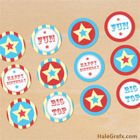 printable carnival party decorations click here to download free printable circus cupcake