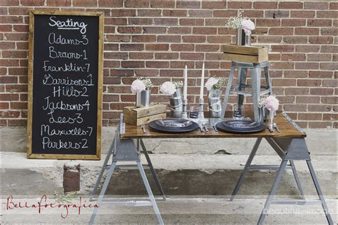 Industrial Wedding Decor industrial design reception tamara menges design