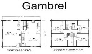 gambrel log home log home kits plans