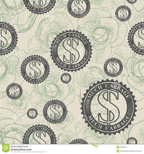 vector pattern money vector pattern with symbols of money stock image image