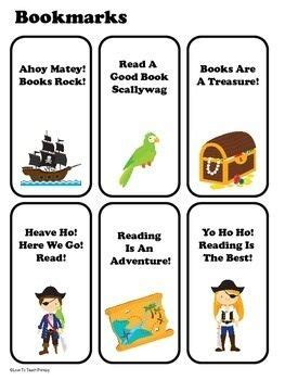 printable pirate bookmarks pirates in the classroom