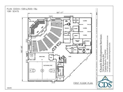 small church floor plans small church building plans church building plan 44 1081