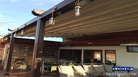 awnings ie motorized retractable all year round roof awnings from