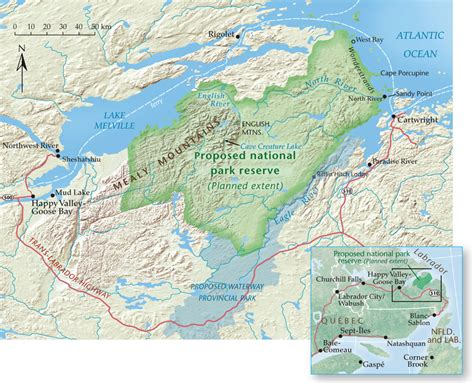 canadian mountains map witness the birth of a national park labrador s mealy