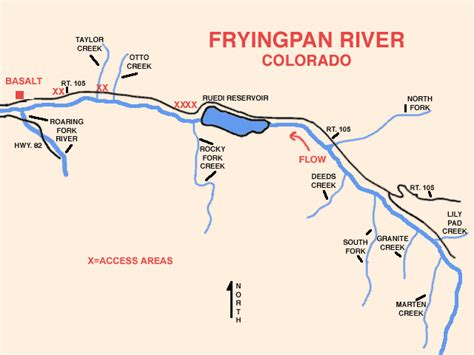 fly fishing colorado map my local to study fryingpan river ruedi impact aspen