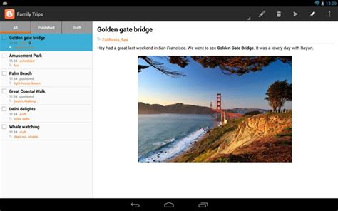 blogger support google blogger for android gets tablet support