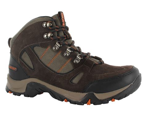 wide mens hiking boots mens hi tec falcon wide fit leather waterproof walking