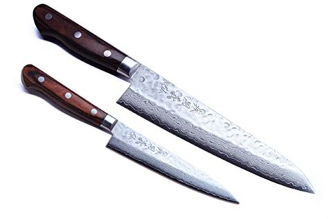 yoshihiro petty japanese kitchen knife 140mm yoshihiro vg 10 gold 16 layer hammered damascus gyuto chef