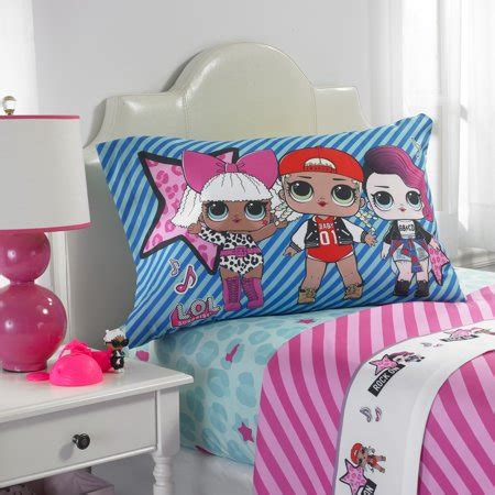 lol surprise 'born rockers' kids bedding sheet set, twin