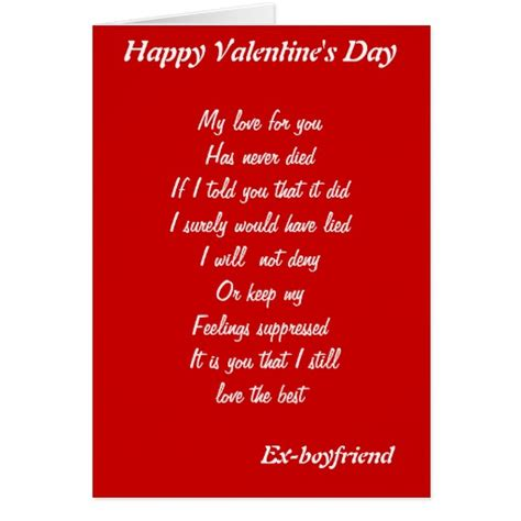 what to get the boyfriend for valentines day ex boyfriend s day cards zazzle