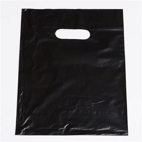 Merchandise Display Case black shopping plastic bags small a amp b store fixtures