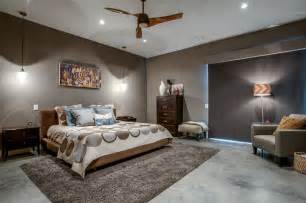 modern master bedroom with ceiling fan by classic urban
