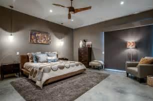 Handwoven mandara brown beige shag rug concrete floors pendant light