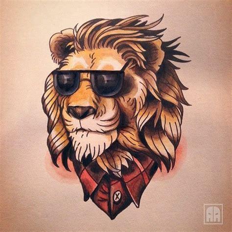 tattoo old school hipster 1001 id 233 es en photos de tatouage lion inspirez vous de